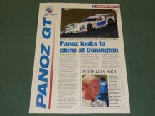 PANOZ FIA GT Donington Park 1997 4 page colour illustrated press release